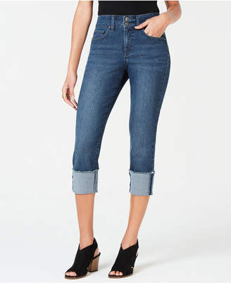 Style&Co. Style & Co Raw-Edge Cuffed Cropped Jeans