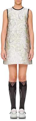 Prada Women's Bunny-Print Silk-Blend Shift Dress