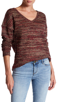 KUT from the Kloth V-Neck Faux Leather Elbow Patch Slub Sweater $78 thestylecure.com