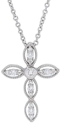 Diamond Select Cuts 14K 0.16 Ct. Tw. Diamond Cross Necklace