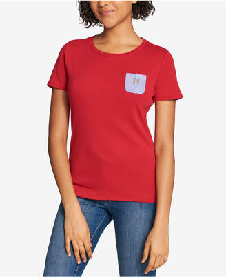 Tommy Hilfiger Cotton Chambray H-Pocket T-Shirt, Created for Macy's