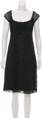 Anna Sui Short Sleeve Metallic-Accented Dress w/ Tags