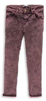 Little Marc Jacobs Little Girl's Snow Wash Denim leggings