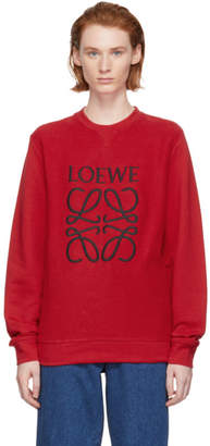 Loewe Red Reversed Anagram Sweatshirt
