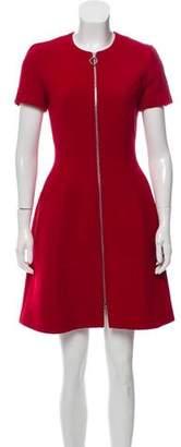 Christian Dior Wool Zip-Up Dress