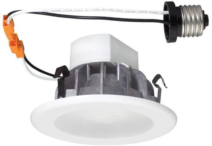 EnviroLite 4 in. White Recessed LED Ceiling Light with Magnetic Trim Ring, 4000K, 96 CRI