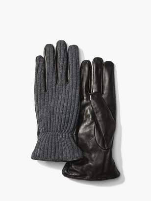John Varvatos Wool & Leather Gloves