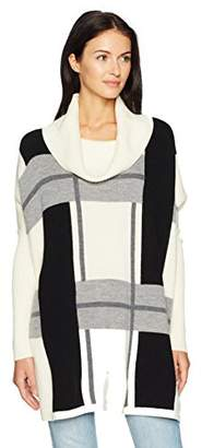 Pendleton Women's Lattice Merino Wool Poncho Sweater