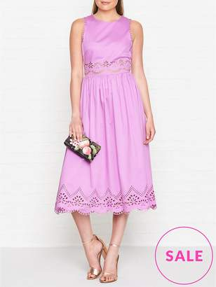 Ted Baker Viiolet A Line Midi Embroidered Dress
