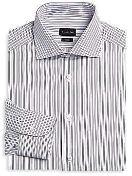 Ermenegildo Zegna Men's Slim Fit Stripe Dress Shirt
