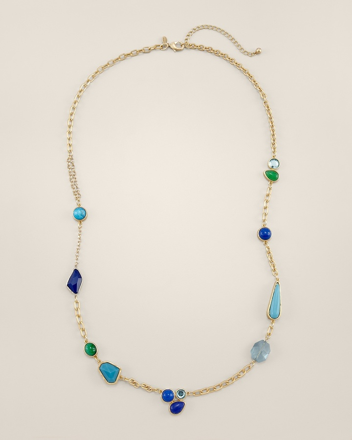Chico's Cay Long Necklace