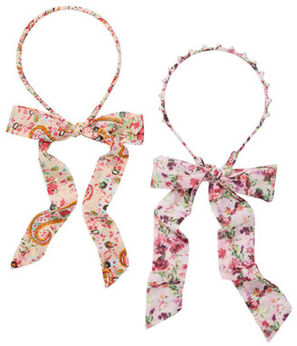 Berry Fabric Wrapped Headbands - Pack of 2 $14.97 thestylecure.com