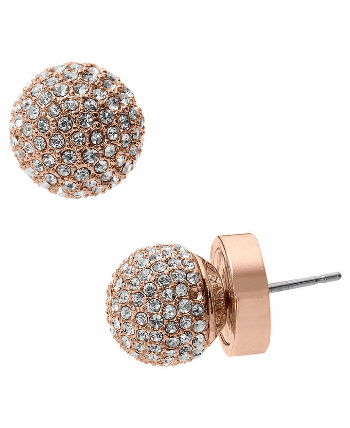 Michael Kors Earrings, Rose Gold-Tone Fireball Stud Earrings