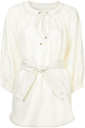 Zimmermann Corsage lace-up blouse