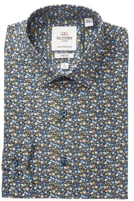 Ben Sherman Floral Tailored Slim Fit Dress Shirt