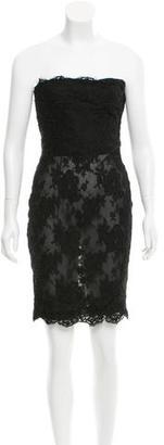 Calvin Klein Strapless Sheer Dress $125 thestylecure.com