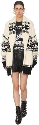 Zadig & Voltaire Intarsia Wool Knit Cardigan
