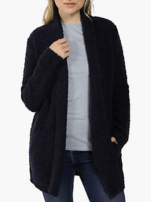 Fat Face Milly Boucle Coatigan, Navy