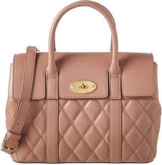 Mulberry Small Bayswater Quilted Leather Satchel