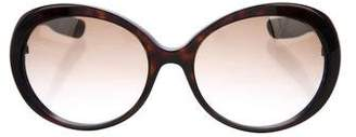 Bottega Veneta Round Gradient Sunglasses