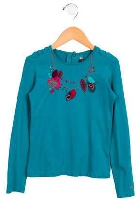 Catimini Girls' Embellished Long Sleeve Top