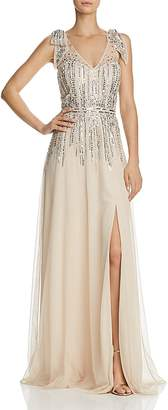Aidan Mattox Sequined Tulle Gown- 100% Exclusive