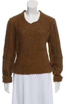 Acne Studios Semi-Sheer Knit Sweater Tan Semi-Sheer Knit Sweater