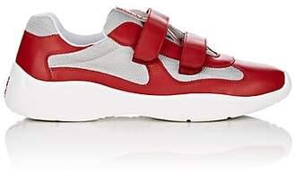 Prada Men's America's Cup Leather & Mesh Sneakers - Red