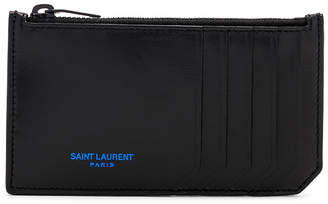 Saint Laurent Zipped Fragments Credit Card Case