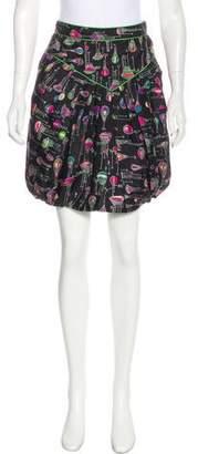Anna Sui Silk Knee-Length Skirt
