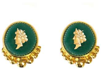 Veronica Beard Green Intaglio Earrings