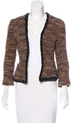 L'Agence Long Sleeve Bouclé Jacket