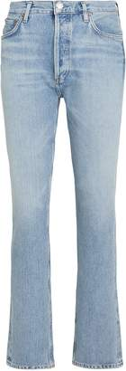 A Gold E Agolde Remy High-Rise Straight Jeans
