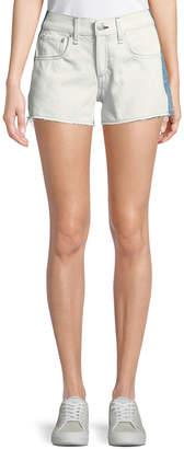 Rag & Bone Two-Tone Cutoff Denim Shorts