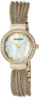 Swarovski Armitron Women's 75/5526MPGP Crystal Accented -Tone Mesh Bracelet Watch