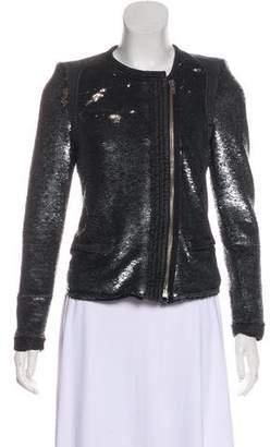 IRO Sequin Long Sleeve Jacket