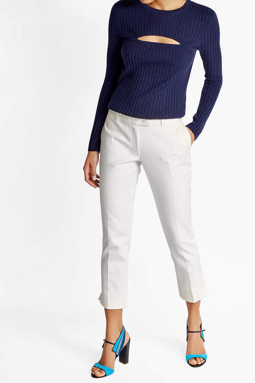 JOSEPH Joseph Cropped Cotton Blend Trousers