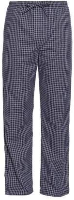 Derek Rose - Checked Brushed Cotton Pyjama Trousers - Mens - Navy Multi