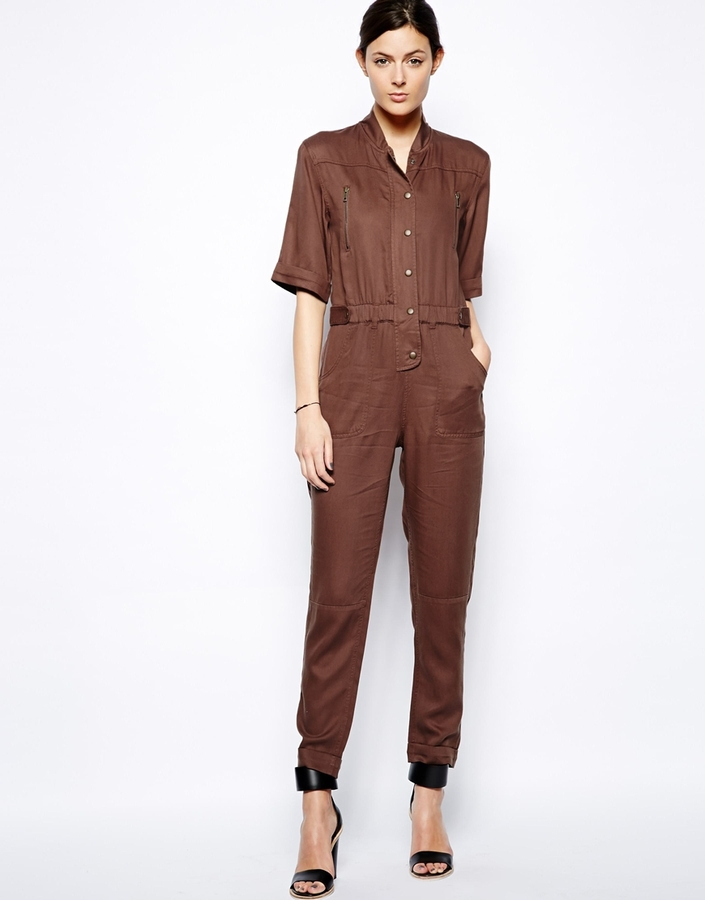 Asos Jumpsuit in Utility Style - Brown