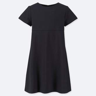 Uniqlo Girl's Crew Neck Short-sleeve Dress