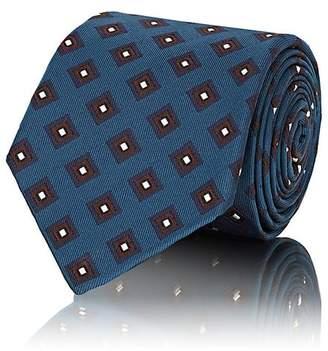Isaia Men's Diamond-Pattern Silk Faille Necktie