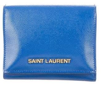 Saint Laurent Leather Tri-Fold Wallet