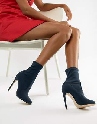 Missguided round toe stiletto boots