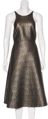 Halston Metallic Flare Dress w/ Tags