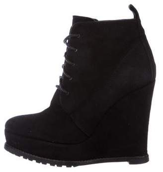 Barbara Bui Suede Wedge Booties