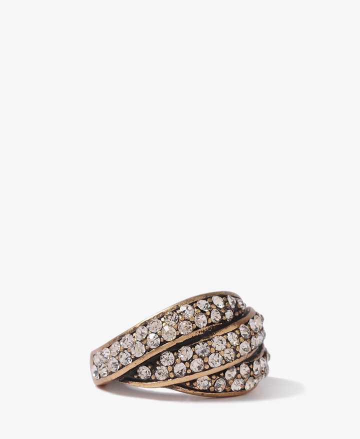 FOREVER 21 Layered Rhinestoned Ring