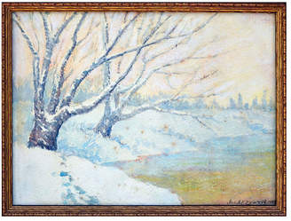 One Kings Lane Vintage Winter Landscape by Joseph Everett