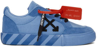 Off-White SSENSE Exclusive Blue Low Vulcanized Sneakers