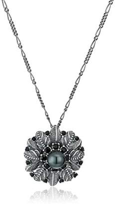 """Marc Jacobs Fall 2016"""" Dark Plumes Pearl Pendant Necklace"""