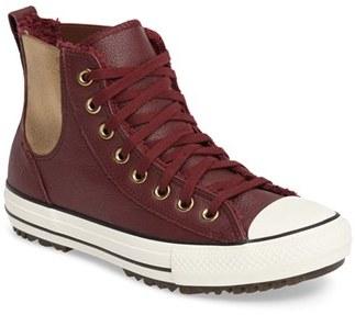 Women's Converse Chuck Taylor All Star Faux Fur Chelsea Sneaker $84.95 thestylecure.com